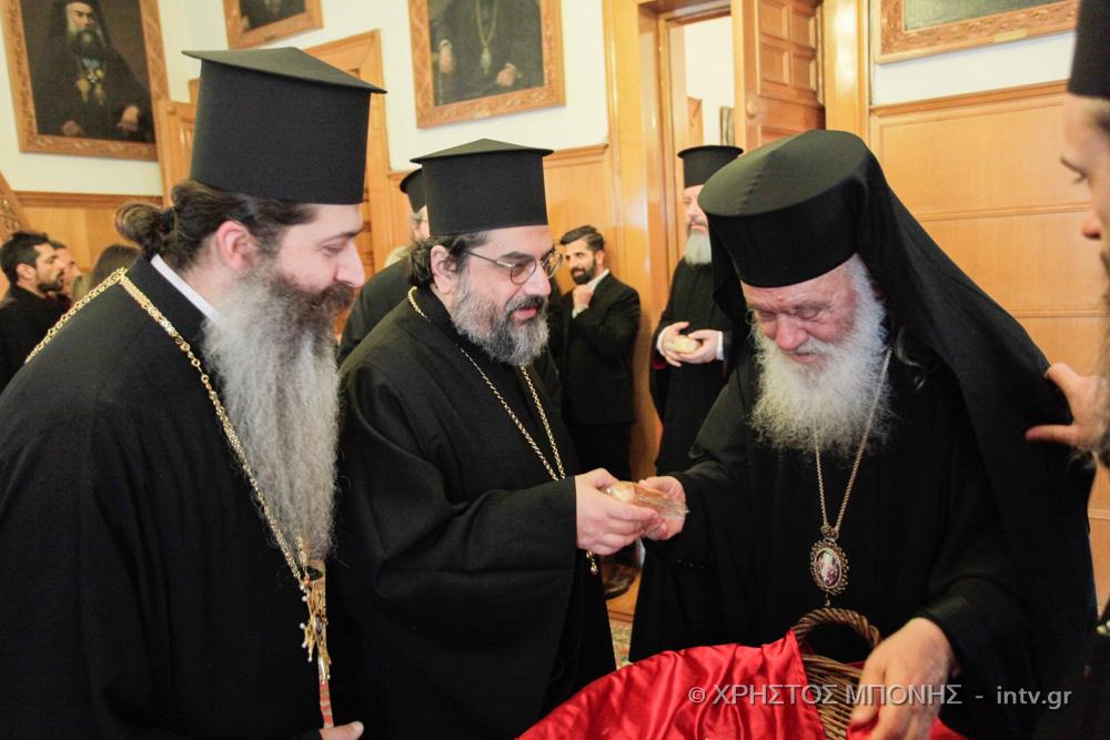 Φωτογραφίες από την κοπή βασιλόπιτας στην Ι. Αρχιεπισκοπή Αθηνών